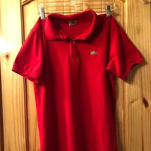 Red Vintage Lacoste Polo!